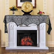 Spider Web Net Black Lace Halloween Easter Festival Decor Tablecloth
