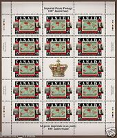 Canada - Full Gutter Pane of 14  - Sir William Mulock, Imperial Penny #1722 -MNH