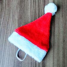 "Christmas Santa Hat 5.5"" Wide for Pets Dog Cat & Small Animals Santa Red UK 2h"
