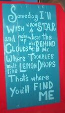 """Reclaimed Pallet Wood Painted Sign Wizard of Oz 13 1/2"""" x 26"""""""