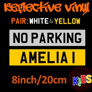 Stick On Novelty Kids Plate - Name Ride On Number plate registraion reflective