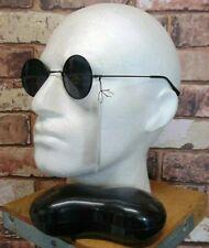 ROUND TEA SHADE JOHN LENNON STYLE SUNGLASSES SET = Glasses and Black Funky Case