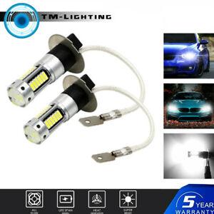 2x H3 6000K White LED Fog Driving Light Bulbs Conversion Kit Super Bright DRL
