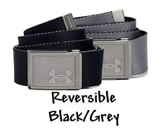 Youth Boys Under Armour Belt Reversible Adjustable Black Grey