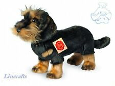 Standing Wire Haired Dachshund Plush Soft Toy Dog by Teddy Hermann. 919230