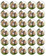 30 x Personalised Photo Cupcake Toppers Edible Wafer Paper Fairy Cake Topper