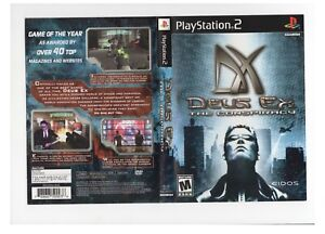 Deus Ex The Conspiracy PS2 ARTWORK ONLY Authentic Black Label Shows Wear