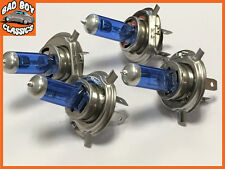H4 55w XENON Superwhite Halogen Car / Motorcycle Headlight Bulbs x4