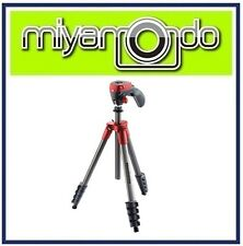 Manfrotto MKCOMPACTACN Compact Action Aluminium Tripod (Red)