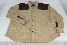 Beige Striped Brown Velvet Eight 732 2XL XXL Long Sleeve Button Front Shirt