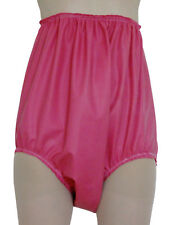 High Side Rubber Pants, Pink Latex Silicone Knickers / Panties / Briefs, Pink