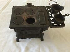 Vintage Cast Iron American Wood Stove-Salesman Sample With Accessories