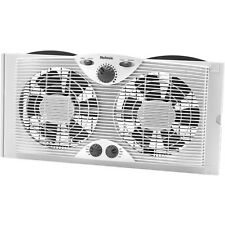 Holmes 9-inch Twin Window Fan H 3 Speed with Comfort Control Thermostat