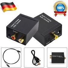 Digital Optisch Toslink Koaxial auf Analog L/R RCA Audio Konverter Adapter+Kabel