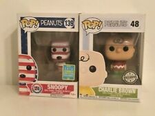 Funko Pop Peanuts 139 Rock the Vote Snoopy 48 Charlie Brown 2016 Exclusive