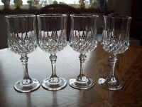 "Longchamp Wine Glasses 6 1/2"" -  Set of 4 - Cristal d'Arques"