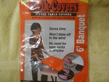 """15 Kwik-Cover 3072PK-O 30"""" X 72"""" Kwik-Cover Orange Fitted Table Cover"""