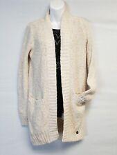 Women's Hollister Long Cream Multi Sweater Pocketed Cardigan  Sz S