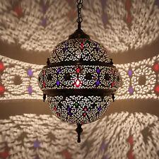 Farol Oriental L��MPARA MARROQUÍ Lámpara colgante de latón FANTASIA h67cm