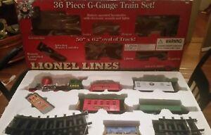 Lionel G Gauge CHRISTMAS TRAIN Set COMPLETE 36 piece