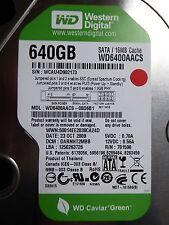 Western Digital WD 6400 AACS - 00d6b1 | darnht 2mbb | 23 oct 2009 | 640 GB