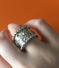 Rare Christian Dior Sterling Silver Ring