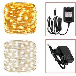 Silver Copper Micro Wire 300 LED String Fairy Lights Christmas Party Decor