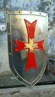 Red Cross Shield Medieval Knight Shield Battle Armor Replica Shield