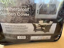 Nova Weatherproof GARDEN Cover Large 4 Seat SquareDinning Table Rattan Furniture