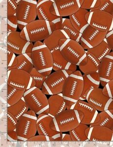 Stripe Multi Football Cotton Fabric by the Yard C8341-MLT Timeless Treasures