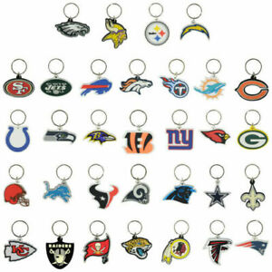 NFL Football Soft PVC Keychains Pick Your Favorite Team