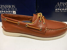 SPERRY TOP SIDER MENS BOAT SHOE A/O 2-EYE TAN SIZE 9