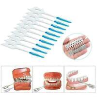 20 Stcke Interdentalbürste Zahnseide Zähne Oral Clean Doppelkopf Zahnstoche R9R2