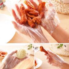 100pcs Transparent Gloves Plastic Gloves For Food BBQ Disposable Kitchen Tools