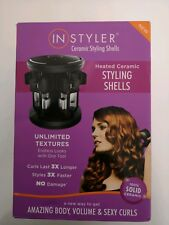 InStyler 16 Heated Ceramic Styling Shells With Rotating Base Curling Tongs Fab G