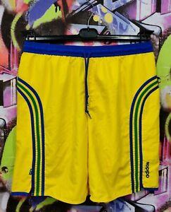 Brazil National Football Team Soccer Training Shorts Adidas 2005 Mens size L