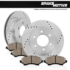 Front Kit Drilled And Slotted Brake Rotors & Ceramic Pads 2WD 4WD 4X4 Chevy GMC