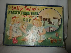 Renwal 1946 Jolly Twins W/ Box Dollhouse Bedroom Set - No Furniture
