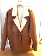 MILANO BROWN SHEARLING MENS JACKET SIZE XL-46?--EXCELLENT