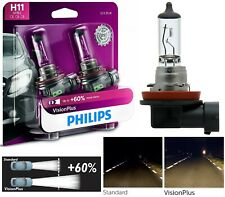 Philips VIsion Plus 60% H11 55W Two Bulbs Head Light Low Beam Replace Legal DOT
