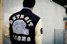 Hombres celebridad se ve Beverly Hills Cop Axel Foley Detroit Lions Vintage Sports