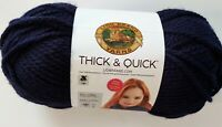 Lion Brand Yarns Thick & Quick Acrylic 6-Super Bulky 12 oz. 223 yards Navy