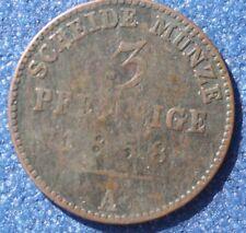 # Cu 3 Pfennig 1858 A Reuss..od 4,99 zl #