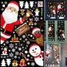 DIY Merry Christmas Wreath Wall Stickers Decor Santa Claus Gift Tree Window Wall