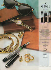 Publicité Advertising 1990  Montre  EBEL  beluga  bijoux cuirs lunettes
