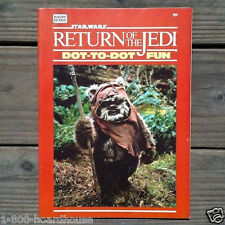 Original 1983 STAR WARS Return of the Jedi Dot to Dot Play Booklet Toy