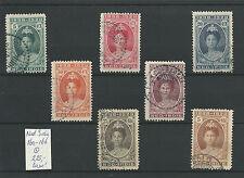 Indie  NVPH 160-166 JUBILEUM 1923 PRACHTIG  VFU/gebr  CV 225 €