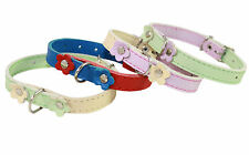 "Genuine Leather Decorated Collar 8""-10"" neck Cat & Dog Miniature Poodle, Puppies"