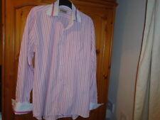 Pink and white stripe long sleeve shirt, PARKER DESIGNER SHIRT, size XL see desc