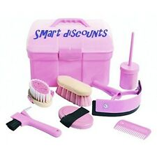 Grooming Kit Horse Pony Complete 7 Items +Box Childrens Carry Total Care Brushes